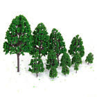 10pcs Street Railway Model RR Trains Layout Scenery Trees Vary Size To Choose