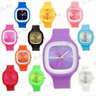 Fashion silicone/rubber/jelly wrist sport watches bracelet for men/women
