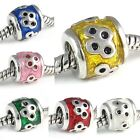 Wholesale Lot 10pcs Dotty Symbol Silver European Spacer Charm Beads For Bracelet