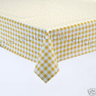 YELLOW GINGHAM CHECK VINYL WIPE CLEAN TABLE COVER