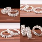 1pc Charm Silver Plated Clear Crystal Rhinestone Elastic Rings Fashion Jewelry