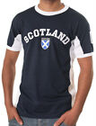 Grat Gift: Mens Gents Scotland No 9 T-Shirt, Navy White, All Sizes