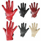 G63 LADIES SEAMED SOFT COLOURED LEATHER FLEECE LINED WARM DRIVING GLOVES - 5 COL