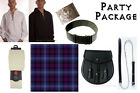 Party Package Scottish Kilt, Complete Casual Outfit, Heritage of Scotland Tartan