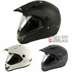 NITRO MX-630 MX630 SUPERMOTO GREEN LANING MX ENDURO MOTORCYCLE HELMET WITH VISOR