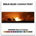 African Animals SUNSET  Canvas Art Print Box Framed Picture Wall Hanging BBD