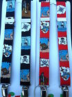 PIRATE BRACES for BOYS/GIRLS/CHILDREN -RED OR BLACK - to fit approx. 1-6 years