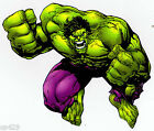 "6-10"" INCREDIBLE HULK MARVEL COMICS WALL STICKER GLOSSY BORDER CHARACTER CUT OUT"