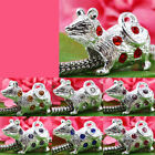 20pc SP Mouse Crystal Charm Bead Fit European Bracelet AB370