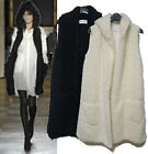 g56 Soft Cozy long hooded fur cardigan