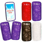 For Samsung Galaxy S3 SIII 3 i9300 Dog Cat Paw Foot Printed Gel Skin Case Cover