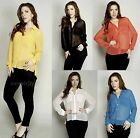 Breezy Sheer Chiffon Loose Fit Button Up Long Sleeve Casual Shirts Top Blouse