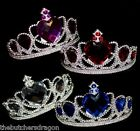 Princess Tiara Tiaras Large Ice Heart Gems Valentines Fairy Fancy Dress