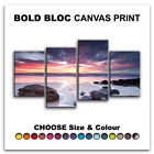 Beach SEASCAPE SUNSET  Canvas Art Print Box Framed Picture Wall Hanging BBD