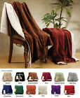 Super Soft Versatile Reversible Lambs Wool Throw Blanket with Hidden Zipper