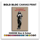 Tourist Information BANKSY HD  Canvas Art Print Box Framed Picture BBD