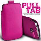 PREMIUM PU LEATHER PULL TAB CASE POUCH COVER FOR VARIOUS MOBILE PHONES 13COLOURS
