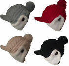 X87 LADIES FLEECE LINED EAR WARMER TRAPPER HAT PEAK BEANIE HAT BUTTON FASTEN HAT