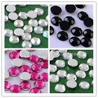 1000x 4mm Acrylic Rhinestones Crystal Gems Round Beads Flat Back Decorations DIY