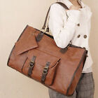 New Lady LARGE Tote Faux Leather Handbag Designer Hobo Work Shopper Shoulder Bag