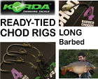 Korda CHOD RIG *LONG - BARBED* : Pack of 3 - For Carp Fishing Coarse Fishing
