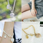 1 Heart with Shoes Alloy Crystal Rhinestones T Buckle Bracelet Wristband Bangle