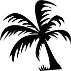 "Palm Tree Decal 2.5""x2.5"" choose color!  vinyl sticker"