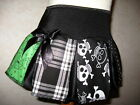 Baby Girls Black,white,Green mixed skulls,tartan,spiders,spots Skirt,Goth,Rock