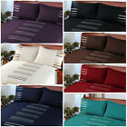 MODERN STRIPED Duvet Cover Poly Cotton Bedding Quilt Cover Ribbon Satin Bed Set