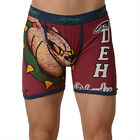 Ed Hardy Red Men's Athletic Bulldog Vintage Boxer Brief