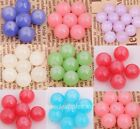 50Pcs Glass Crystal Candy Spacer Smooth Surface Ball Beads 10mm Bracelet DIY