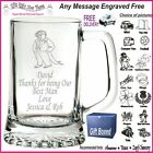 Personalised Glass Tankard Birthday Gift 18th 21st 30th 40th 50th 60th 70th