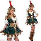 Ladies Sexy Robin Hood Maid Marion Fancy Dress Costume Outfit 6-26 Plus Size