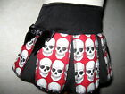 NEW Gothic Baby Girls Black,White,Red Skull Cheerleader Skirt,Gift,Party,Pirate,