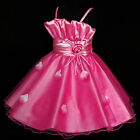 HP5299 Hot Pinks Fuchsia Girl Pageant Party Flower Girl Dress SZ 2T,4T,6T,8T,10T