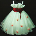 R818 Reds Holy Communion Easter Pageant Flower Girls Dress SIZE 2,3,4,5,6,7,8,9Y