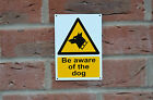 Be Aware Of The Dog Security Pet Sticker, Window Sticker Or Plastic Sign A6