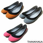 Pretty Womens Ballet Flats Casual Ballerina Comfort Shoes NEW Gray Pink Orange