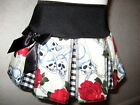 New Black Red Cream Skulls Roses Check cheerleader skirt Goth Rock Punk Party