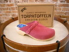 Torpatoffeln Pink Suede Braided Swedish Cape Clogs Mules New