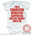 Naughtees Clothing I'm A Charlton Athletic Supporter Soft Babygrow Baby Suit New