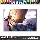 Boat SEASCAPE SUNSET  Canvas Print Framed Photo Picture Wall Artwork WA