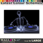 Skeleton MUSIC DJ & CLUB  Canvas Print Framed Photo Picture Wall Artwork WA