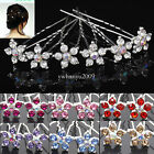 Wholesale 20pcs Rhinestone Crystal Wedding Bridal Party Star Flower Hair Clips