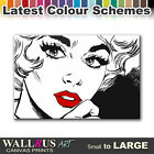 Sexy Popart Lips EROTIC  Canvas Print Framed Photo Picture Wall Artwork WA