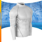 Mens Compression Turtle Neck Long Sleeve White/Silver Stripe T01W/S S ~ 2XL