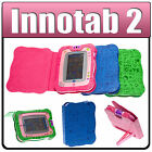 Kids PU Leather Book Case Cover & Power Mains or Car Adapter for vTech InnoTab 2