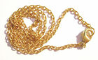 "Chain Necklace Handmade Gold plated Steel, ALL SIZES 16"" to 50""  -  5 or 1 Qty"