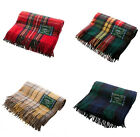 Scottish 100% Wool Tartan Check Plaid Blanket Rug Throws - Traditional Patterns
