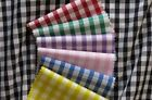 """1/8"""" 1/8 inch Gingham Check Poly Cotton Fabric per FQ  1/2 metre 1M 1 metre NEW"""